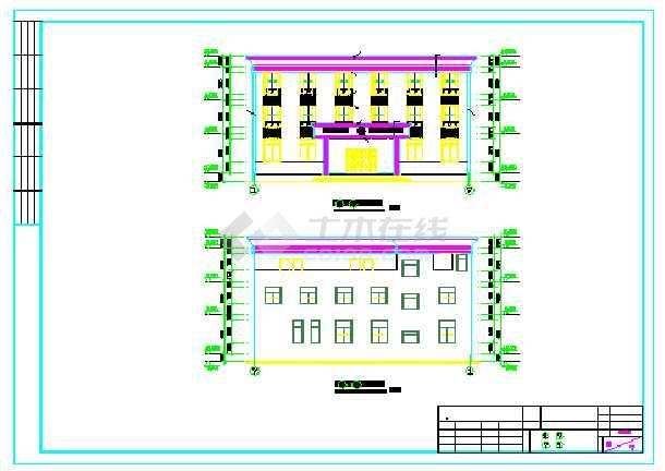 【广东】某三层派出所建筑结构施工图创维4t66图纸图片