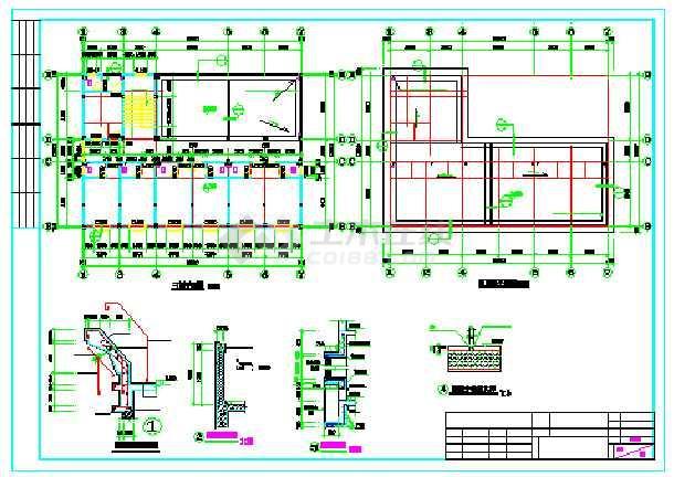 【广东】某三层派出所建筑结构施工图图纸车头挂车图片