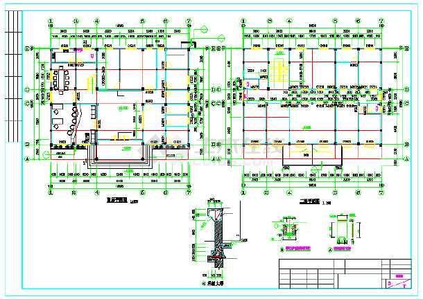 【广东】某三层派出所建筑结构施工图救护车图纸启蒙军用