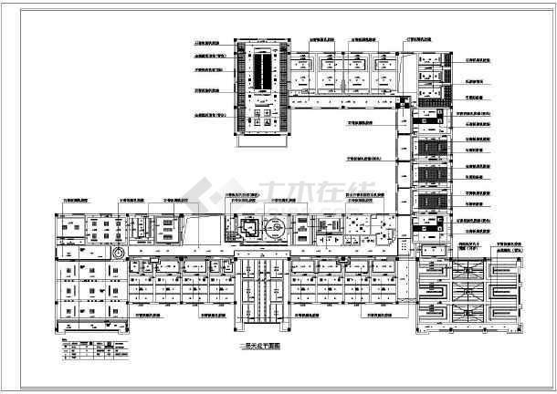 【泰州】某办公楼装饰设计天花吊顶平面图