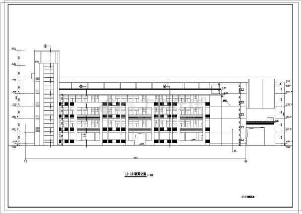 求一中学12个教室教学楼设计CAD图 邮箱 haican1314 yahoo.com.cn图片