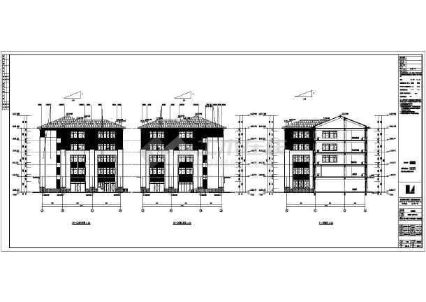 【天津】五层框架结构块瓦屋面社区中心建筑施工图