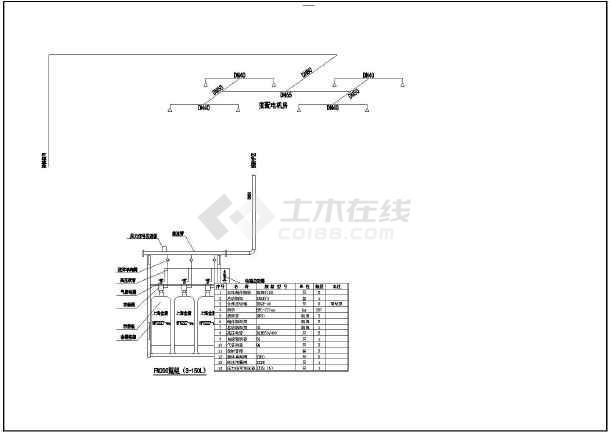 某大厦中七氟丙烷气体灭火系统设计图