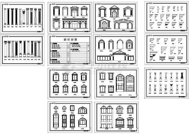 图纸 建筑图纸 欧式建筑精品构件大样   价格: 75土木币&图片