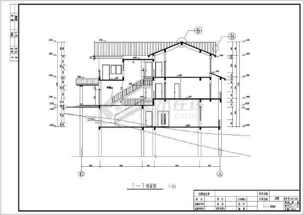 某地两层框架结构别墅建筑设计方案图