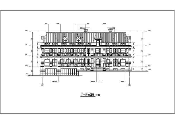 某地两层带地下室欧式风格别墅建筑设计方案图