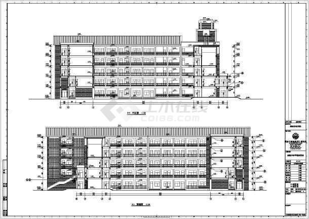 福建中医学院实验楼建筑设计施工图