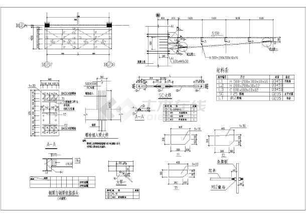 某才能结构钢结构图纸雨篷施工图全套_cad图a结构单个如何建筑发微信发图片