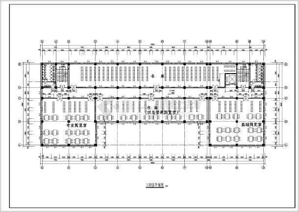 5层框架结构图书馆毕业设计计算书及建筑结构图