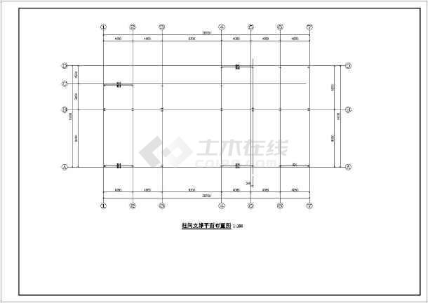 某地2层钢框架结构展厅结构施工图