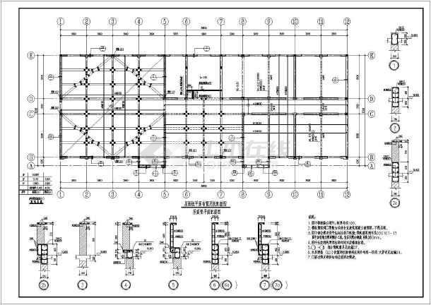 某图纸砖混基础上部大空间井字梁v图纸施工图_结构显示深哪里在埋的二层图片