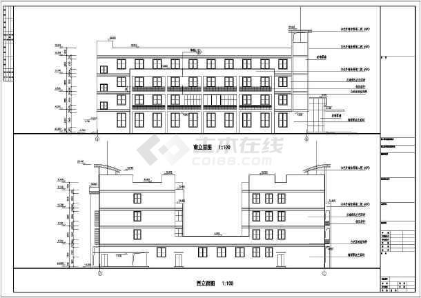青岛某四层酒店风机盘管加新风空调系统设计图图片2