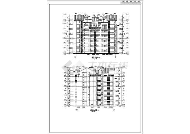 重庆龙湖蓝湖郡7层住宅楼建筑施工图_cad图纸下载