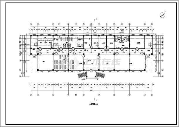 某地区五层框架结构老年公寓建筑设计方案图