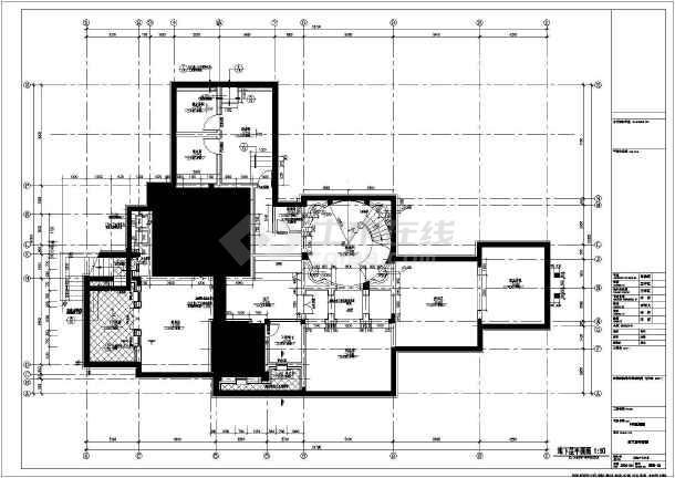 上海某两层框架结构别墅建筑设计施工图