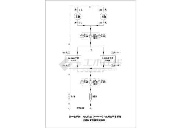 冷却塔,冷却泵,冷冻泵配电系统图及控制原理图