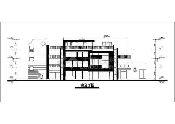 结构幼儿园建筑设计方案,带露台设计,图纸内容包含:各层,屋顶平面图