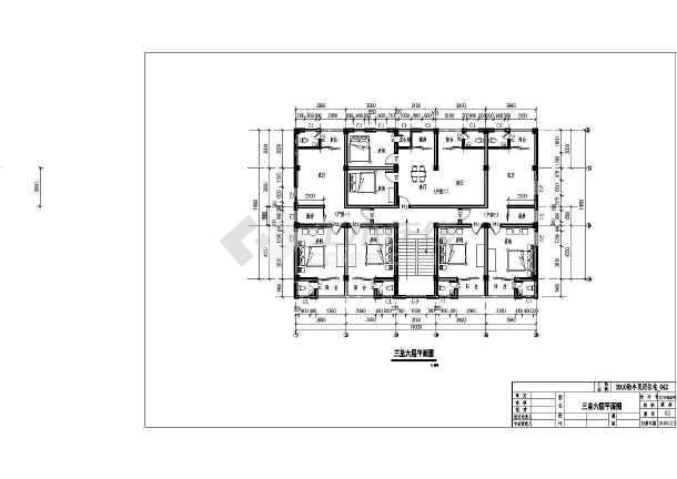 广东某地六层出租房建筑设计方案图图片