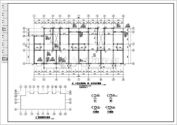 某地上六层砖混图纸住宅楼施工图(竣工结构)_章工程基础悬挑图片