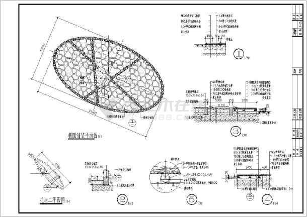 某景区服务中心景观绿化设计施工图(含效果图)