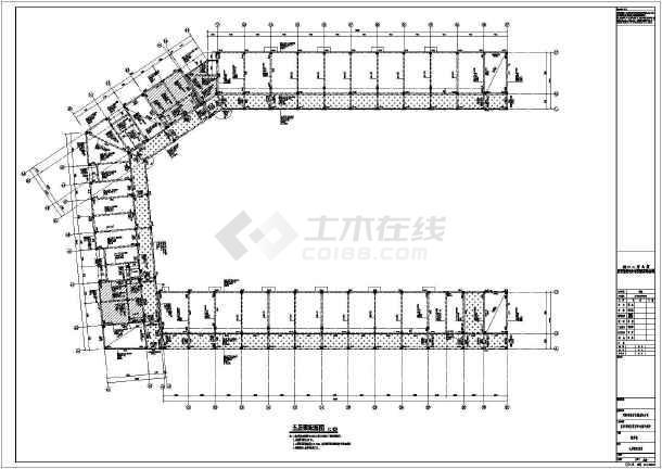 浙江省9层框架剪力墙结构某大学图书馆结构施工图