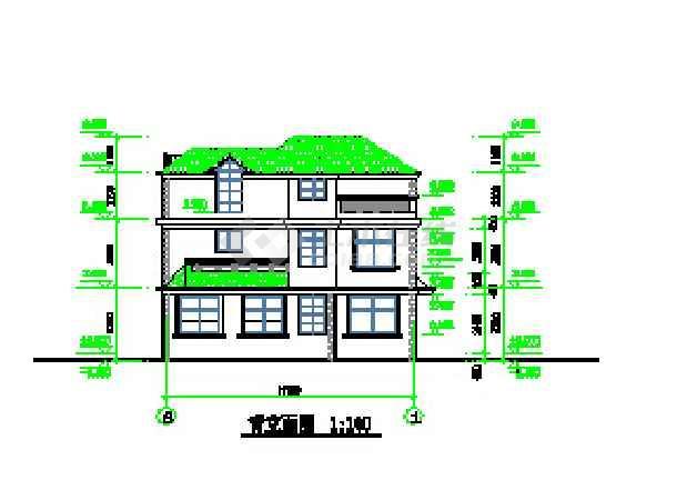 某地新农村二层别墅建筑设计施工图