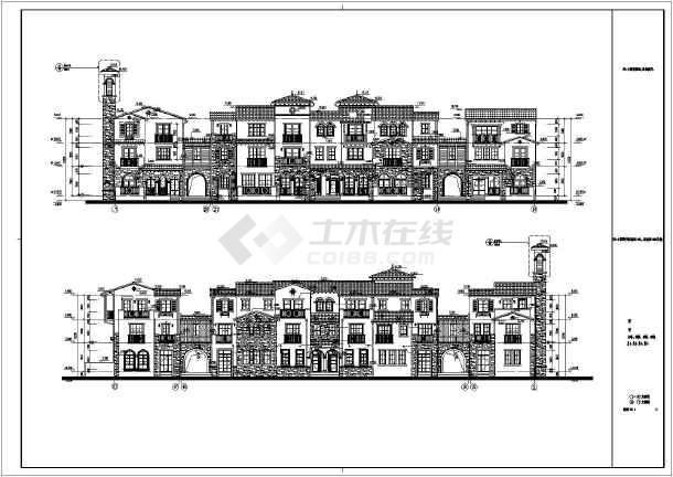 某功能复杂的四合院建筑设计图