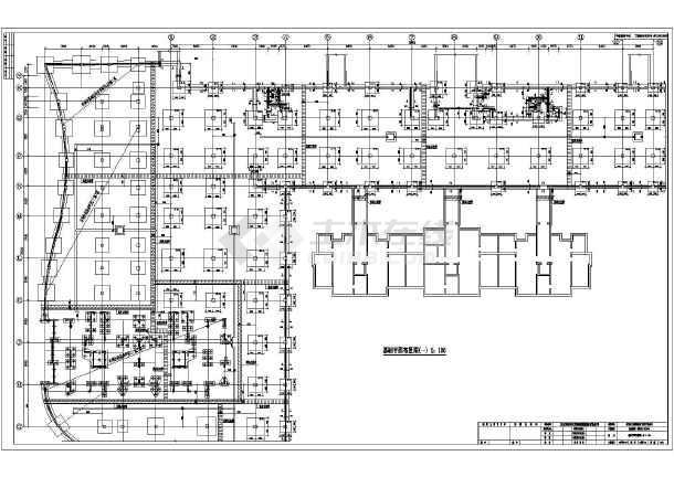地下室人防结构地下车库结构施工图图片1
