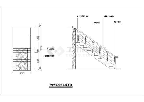 【山东】某三层豪华别墅装修设计施工图图片