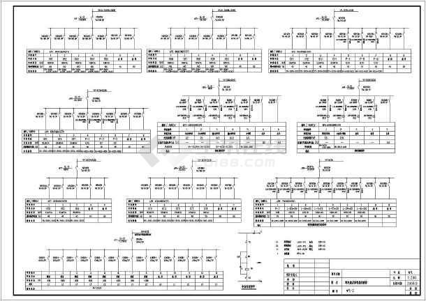 焊接车间配电 照明平面图 含设计说明和设备表
