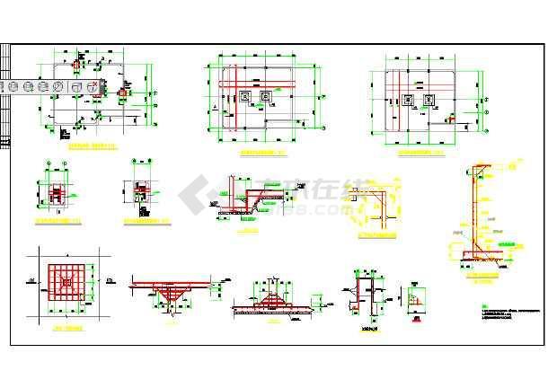 消防地下水池结构图(含设计说明)图片1