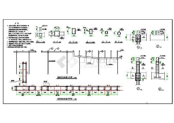 某地区高低栈桥结构基础图(含设计说明)图片1