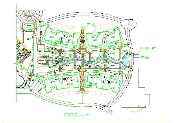 某地时尚规划小区景观设计总平面图