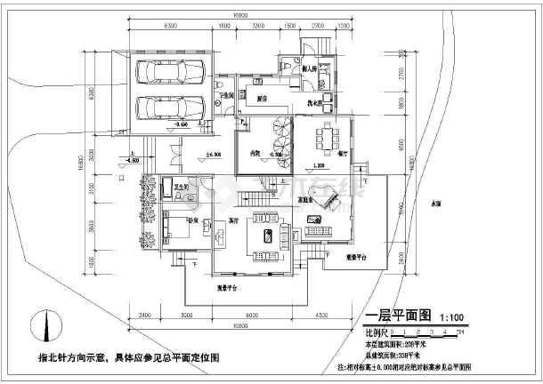 两层长16.80米 宽16.80米农村自建房建筑施工图