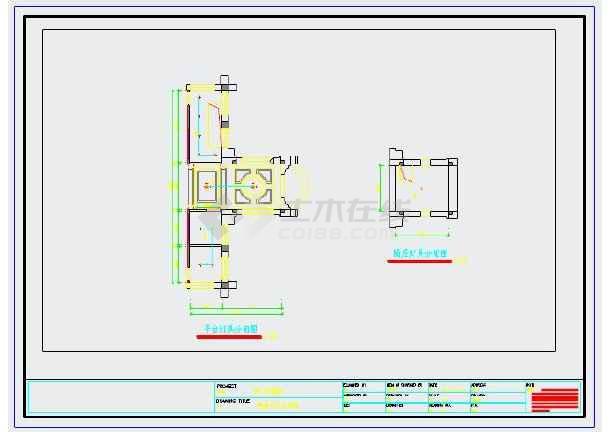 某小型教堂室内装修设计cad图纸图片3