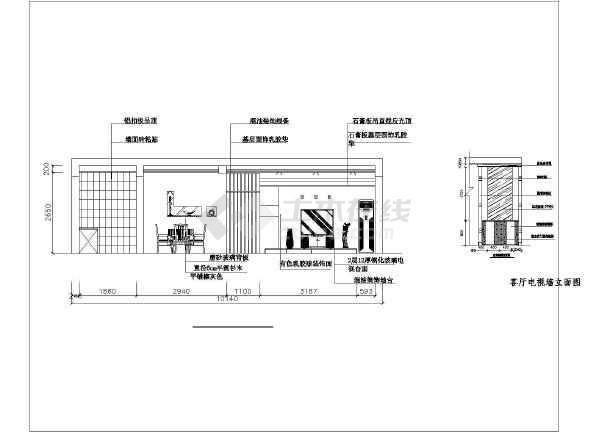 小户型一室一厅带舒适阳台装修施工cad图纸
