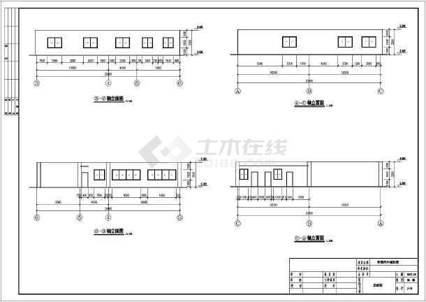 汽车 汽车城/某汽车城汽车展厅建筑结构施工图纸/图1