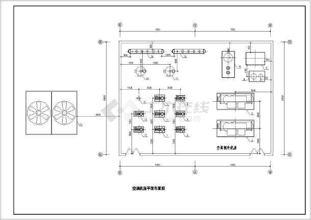 某超市中央空调设计图,图纸包括:设计说明,超市通风平面图,空调水图片