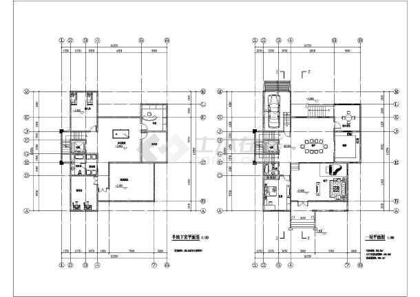 某地2层砖混结构独栋别墅建筑方案设计