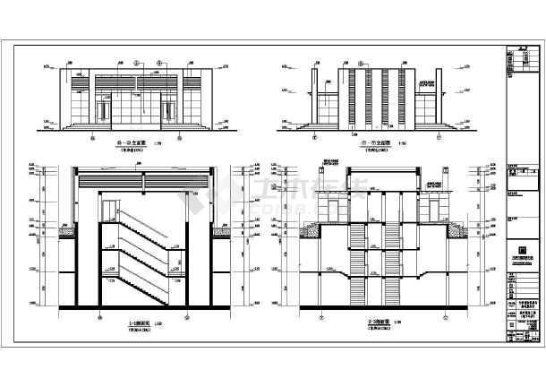 某车库地下两层大型小区建筑设计施工图金华园林设计图片