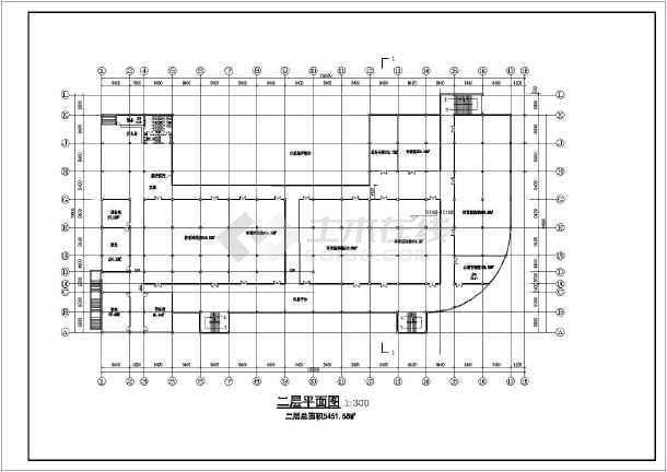 某学校总平面图及体育运动场建筑设计方案图