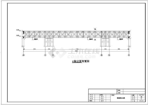 某地区钢结构天桥连廊结构设计图纸