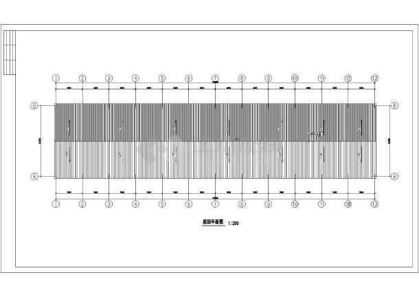 某24米跨门式刚架轻钢结构房屋建筑和结构全套图纸