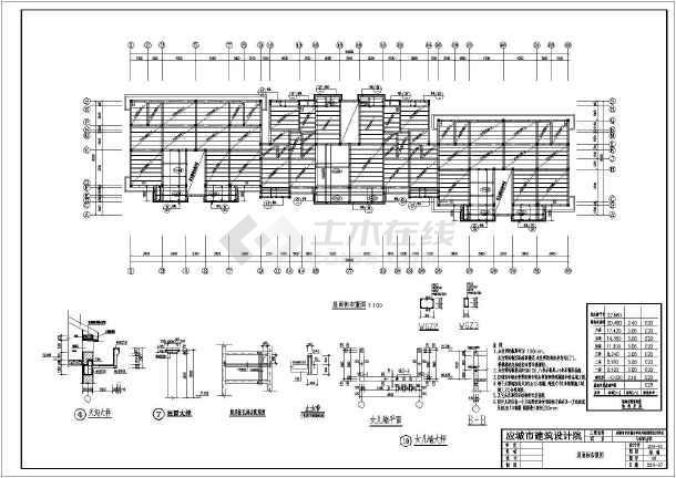七层120平方户型砖混房屋结构图