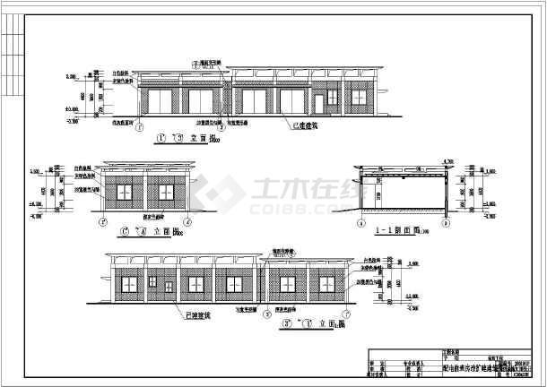 某概念配电值班扩建房改建筑设计施工图泵站综合体设计商业图片