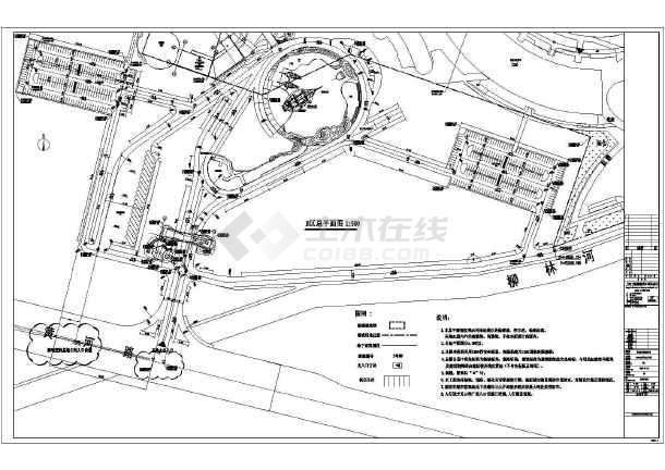 乐园 建筑总 平面 规划图纸 cad图纸图片