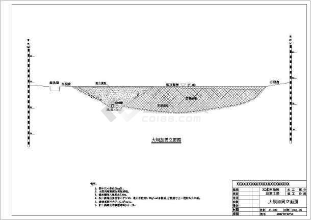 水利工程设计图  大坝堤防(水坝图纸)  大坝相关  某工程水库设计施工