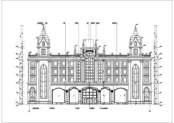 某地五层图纸结构欧式图纸建筑设计框架酒店_号号一方案图纸二图片