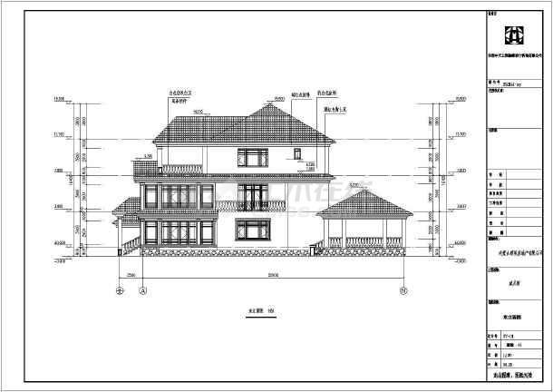 某地三层带地下室湖畔建筑设计施工图天下别墅别墅怎么样图片