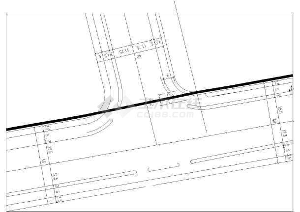 工程给水管道支墩图集给水管道断面图给水管道设计图